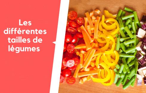 Les différentes tailles de légumes, explications simples et précises