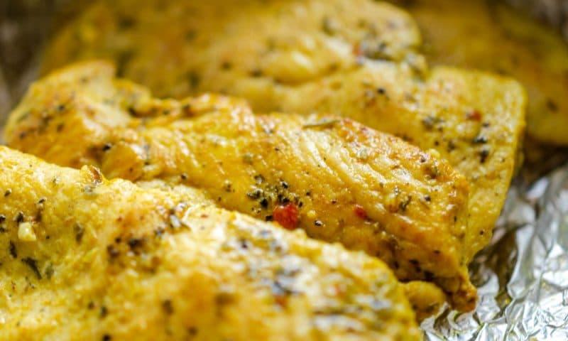 Papillotes de poulet au fromage de chèvre, Recette de chef