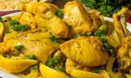 Poulet au citron et aux olives, Recette de chef