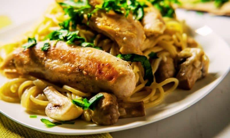 Escalopes de poulet aux champignons, Recette de chef